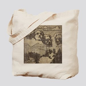 Vintage Mount Rushmore Tote Bag