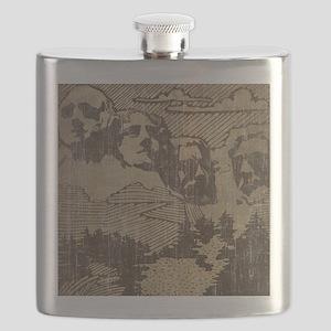 Vintage Mount Rushmore Flask