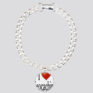 I Love Geocaching Charm Bracelet, One Charm