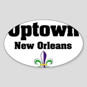 Uptown New Orleans Oval Sticker
