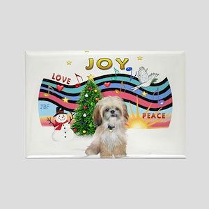 Christmas Music #1 - Shih Tzu Rectangle Magnet