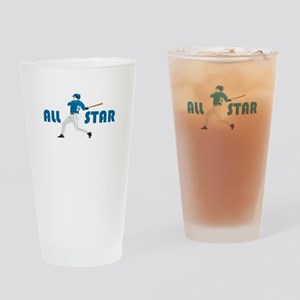 Baseball All Star Drinking Glass