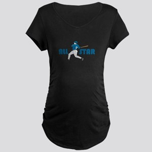 Baseball All Star Maternity Dark T-Shirt
