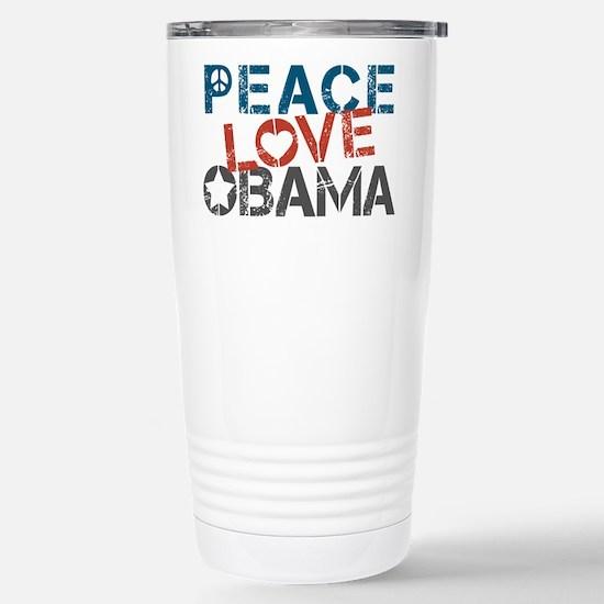 Peace Love Obama Stainless Steel Travel Mug