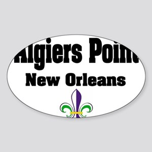 Algiers Point New Orleans Oval Sticker