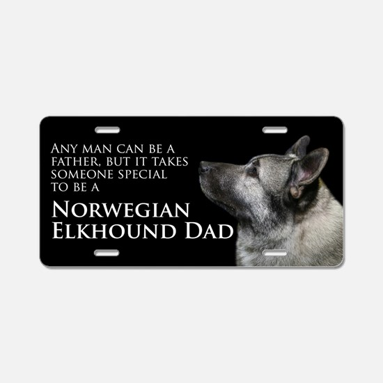 Elkhound Dad Aluminum License Plate