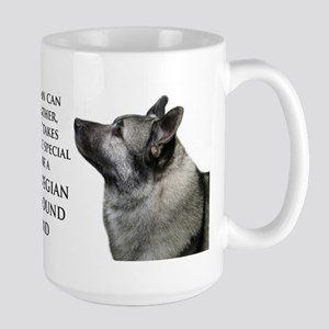 Elkhound Dad Large Mug