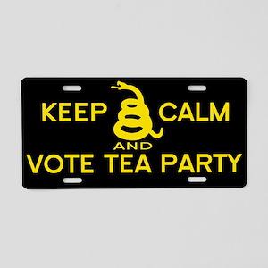 Keep Calm - Tea Party Aluminum License Plate