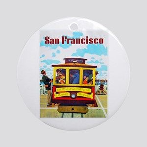 San Francisco Travel Poster 1 Ornament (Round)