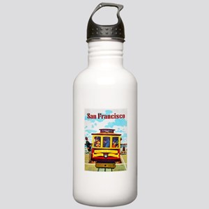 San Francisco Travel Poster 1 Stainless Water Bott