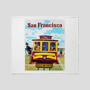 San Francisco Travel Poster 1 Throw Blanket