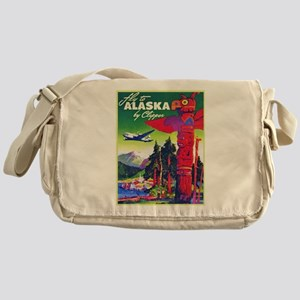 Alaska Travel Poster 5 Messenger Bag