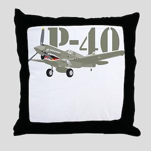 US P-40 Warhawk Throw Pillow