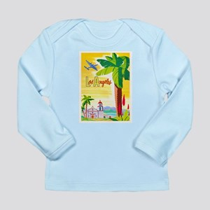 Los Angeles Travel Poster 2 Long Sleeve Infant T-S