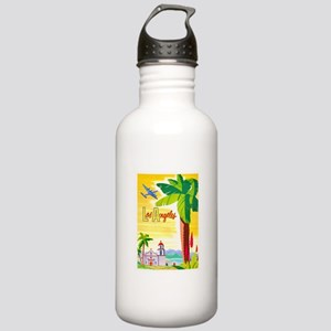 Los Angeles Travel Poster 2 Stainless Water Bottle