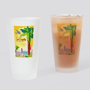 Los Angeles Travel Poster 2 Drinking Glass