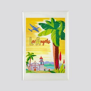 Los Angeles Travel Poster 2 Rectangle Magnet