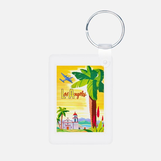 Los Angeles Travel Poster 2 Keychains