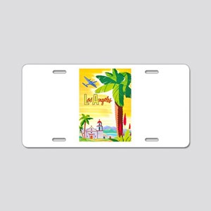 Los Angeles Travel Poster 2 Aluminum License Plate