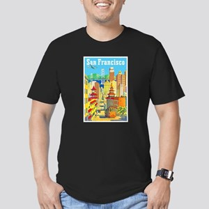 San Francisco Travel Poster 2 Men's Fitted T-Shirt