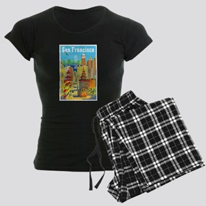 San Francisco Travel Poster 2 Women's Dark Pajamas