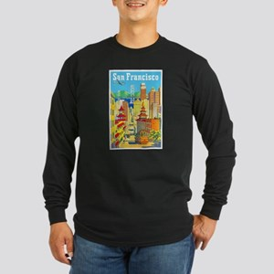 San Francisco Travel Poster 2 Long Sleeve Dark T-S