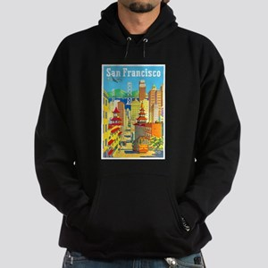 San Francisco Travel Poster 2 Hoodie (dark)