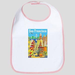 San Francisco Travel Poster 2 Bib