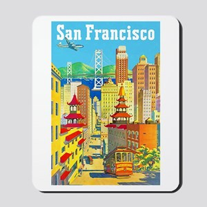 San Francisco Travel Poster 2 Mousepad