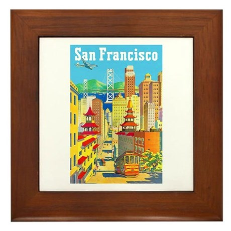 San Francisco Travel Poster 2 Framed Tile