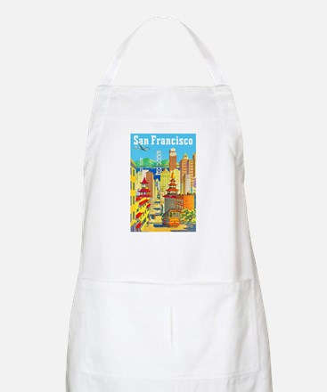 San Francisco Travel Poster 2 Apron