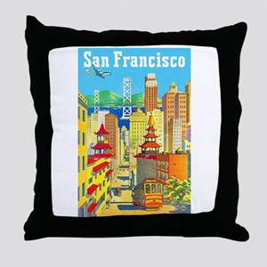 San Francisco Travel Poster 2 Throw Pillow