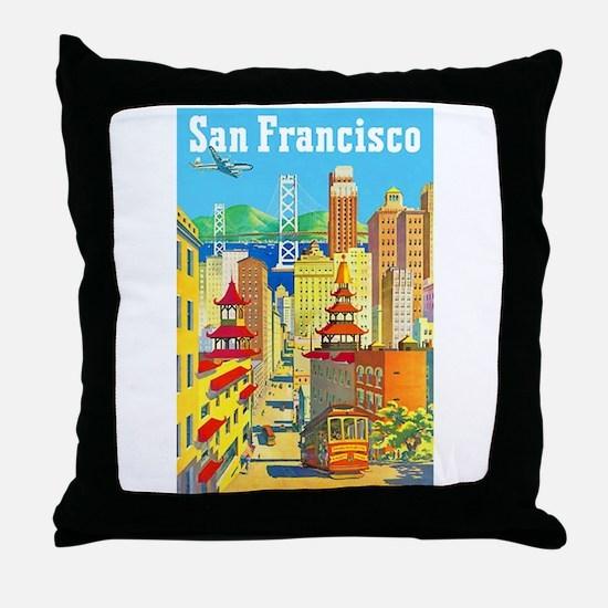 San Francisco Travel Poster 2 Throw Pillow