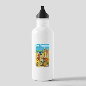 San Francisco Travel Poster 2 Stainless Water Bott