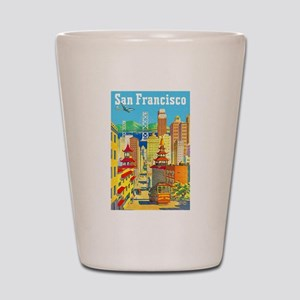 San Francisco Travel Poster 2 Shot Glass