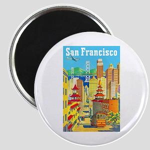 San Francisco Travel Poster 2 Magnet