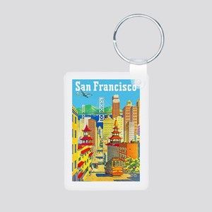 San Francisco Travel Poster 2 Aluminum Photo Keych