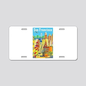 San Francisco Travel Poster 2 Aluminum License Pla