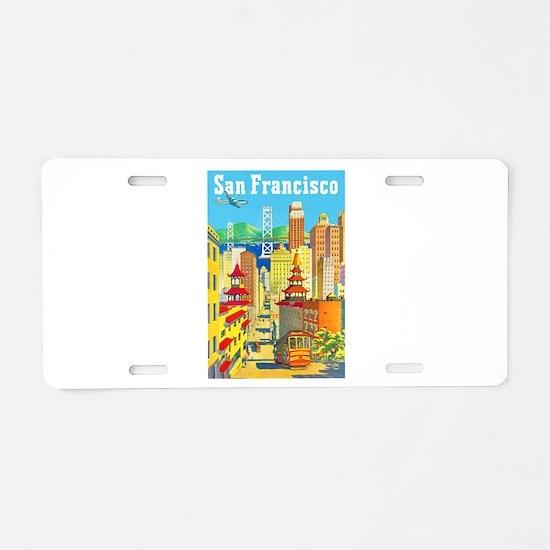 San Francisco Travel Poster 2 Aluminum License Pla