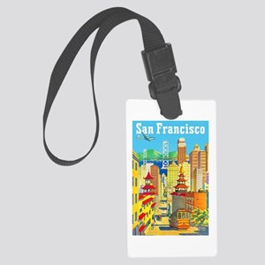 San Francisco Travel Poster 2 Large Luggage Tag