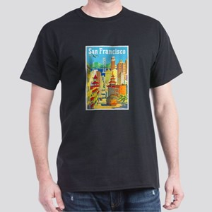 San Francisco Travel Poster 2 Dark T-Shirt