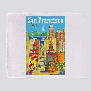 San Francisco Travel Poster 2 Throw Blanket
