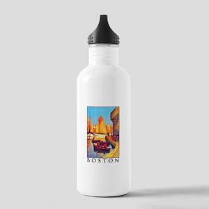 Boston Travel Poster 1 Stainless Water Bottle 1.0L