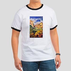 Yosemite Travel Poster 2 Ringer T