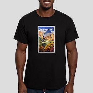 Yosemite Travel Poster 2 Men's Fitted T-Shirt (dar