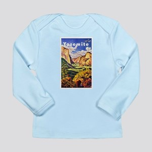 Yosemite Travel Poster 2 Long Sleeve Infant T-Shir