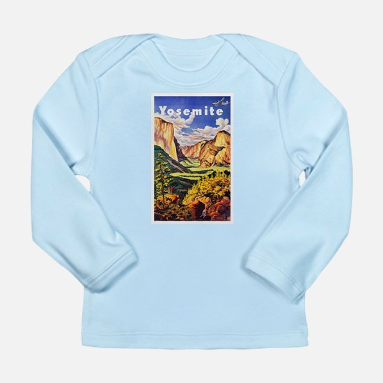 Yosemite Travel Poster 2 Long Sleeve Infant T-Shir