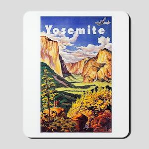 Yosemite Travel Poster 2 Mousepad