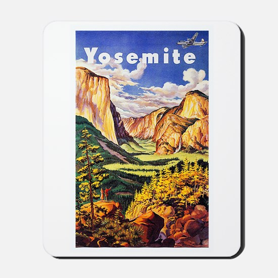 Yosemite Travel Poster 2 Mousepad