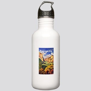Yosemite Travel Poster 2 Stainless Water Bottle 1.